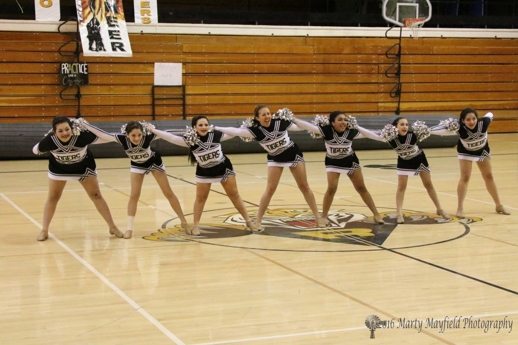 The TigerCats Dance Team during their state preview performance in Tiger Gym
