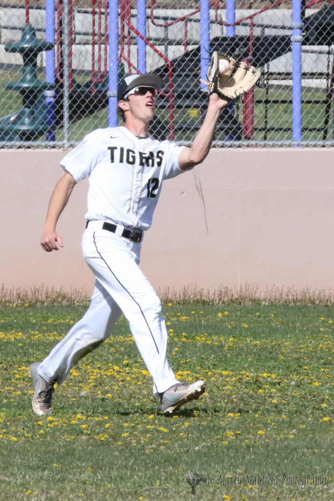 Dillon Lemons snags one on the fly Friday afternoon as Raton hosted Tucumcari for a double header.