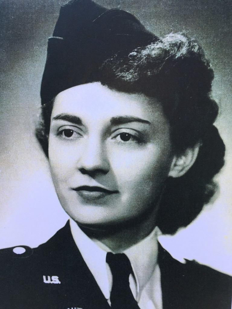 While Hattie Sloan was home on leave, before going overseas, her father arranged for her to have her photograph taken in uniform. She did not see the photo until after the war was over. (Photo is courtesy of Cathy Naylor.)