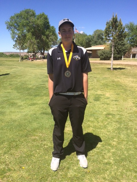 Jason Parker takes District Golf Title and 4th leg for state tourney.