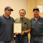Sanitation Director Jason Phillips and Land fill Manager Ernie Castillo accepted the proclamation for Public Works Week from City Commissioner Donald Giacomo