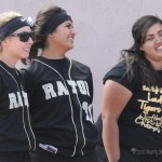Seniors Mariah Encinias, Natasha Archuleta, and Alicia Hernandez were honored Monday afternoon before the last game of the regular season