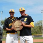 Cam Baird and Ethan Washburn teammates on Trinidad State's baseball team, former Raton High School teammates