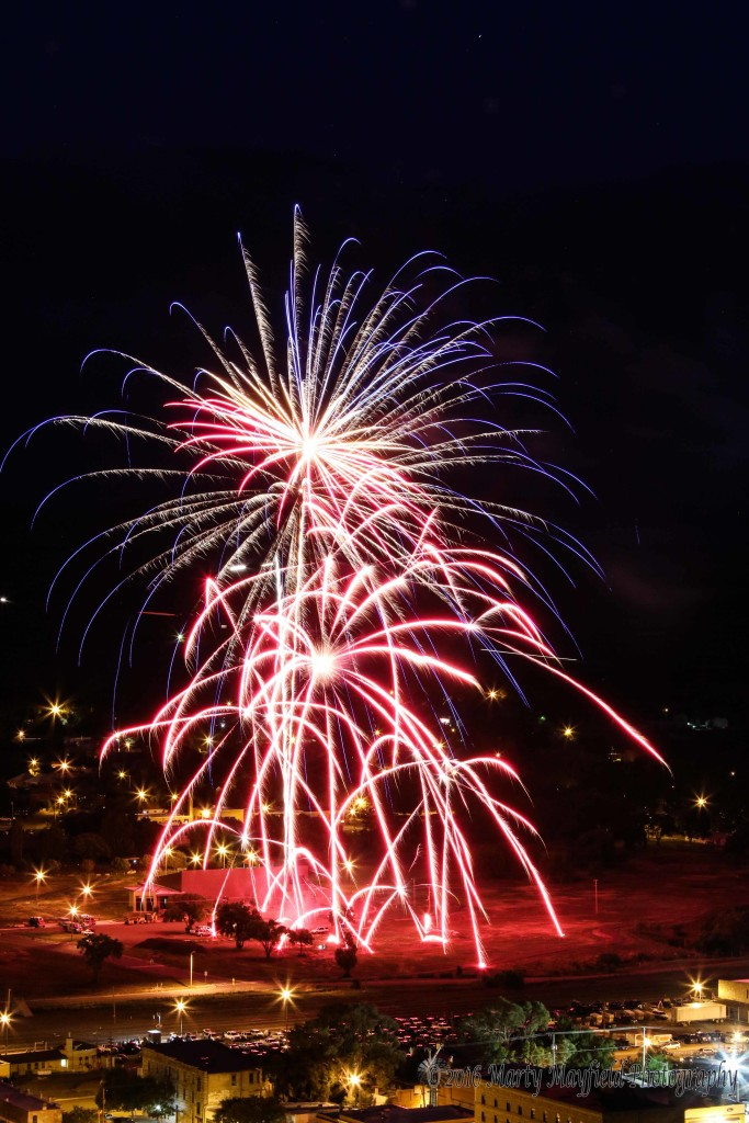 Raton NM July 4th 2016 Fireworks display presented by the Raton Fire and Emergency Services
