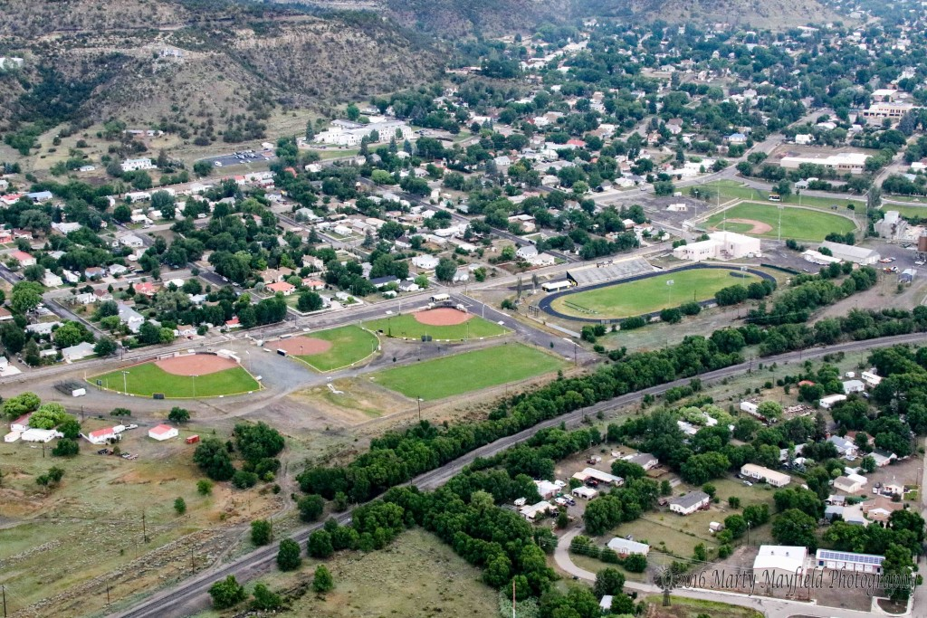 Raton's Ball Fields from above. The view courtesy of Tom Gardner and Ajuua Dreamer