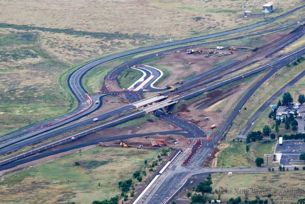 The south I-25 interchange construction project is coming along The view courtesy of Tom Gardner and Ajuua Dreamer