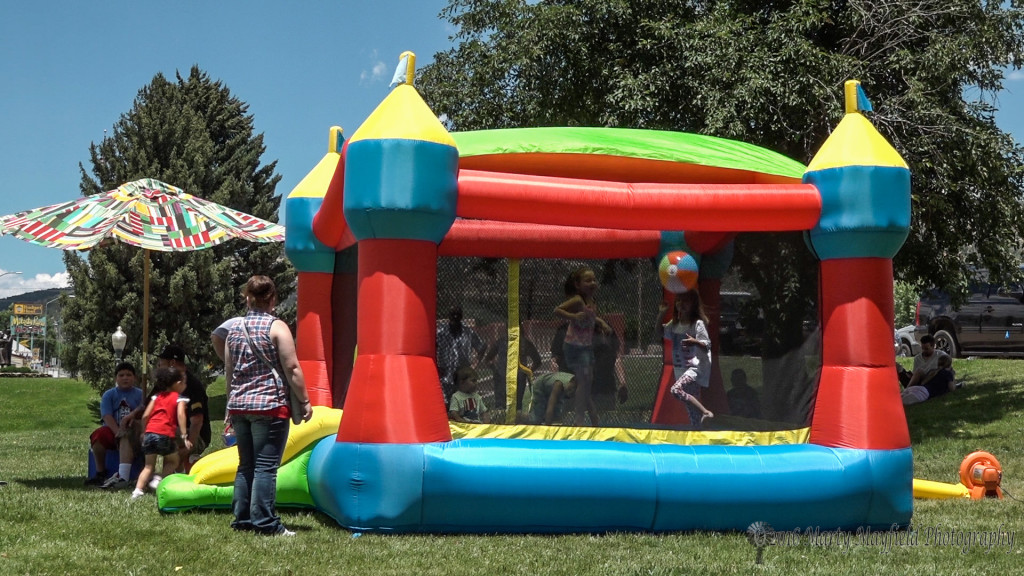 Its bouncy house time for these young's at Fun in the Park on July 4th
