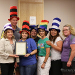 Commissioner Lindé Schuster, Eric Armstrong, Vanna Tapia, Amalia Vigil, Mercy Swanson, Liz Tafoya and Jami Esquivel were on hand to receive the proclamation for Relay for Life Proclamation.