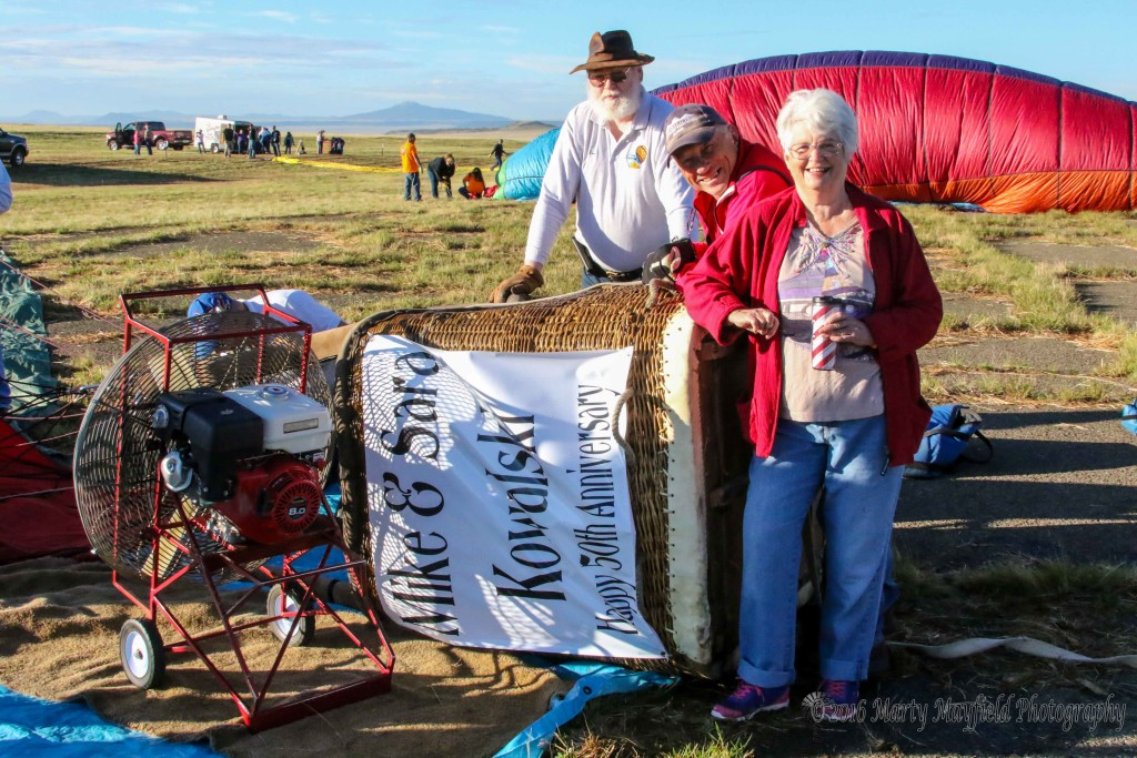 Mike and Sara Kowalski sponsored a balloon to celebrate their 50th anniversary this year at the 2016 International Santa Fe Trail Balloon Rally