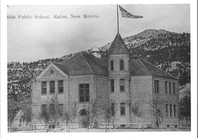 "North Side School was constructed in 1900; it was named Columbian Elementary School in 1906. Initially ""The Last Trail"" hung in this school, from 1920 to 1939."