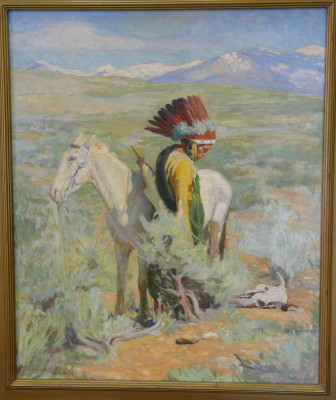 """The Last Trail"", an original oil painting by Bert Geer Phillips, is owned by the Raton Public Schools."