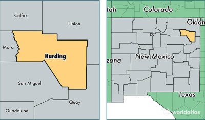 harding county outline
