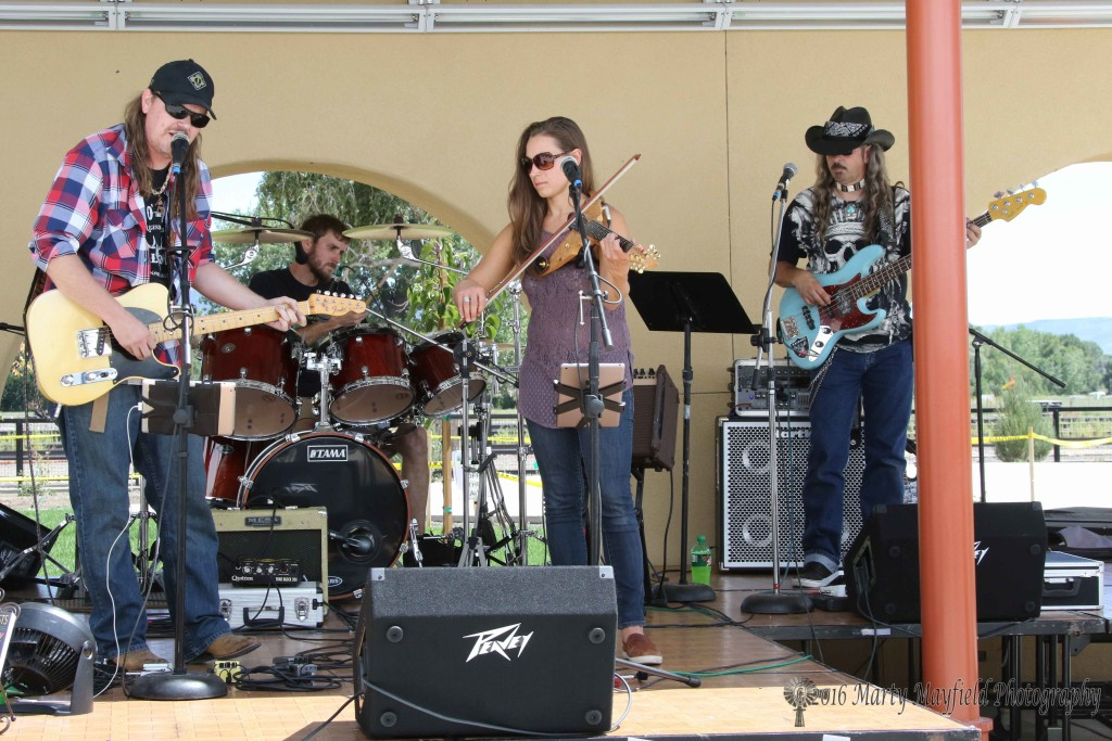 The Dewey Paul band performed Saturday afternoon at the 2016 Gate City Music Festival