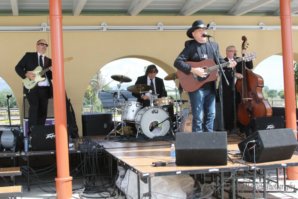 All the way from Nashville Tennessee is the Gary West Band a group specializing in Johnny Cash music