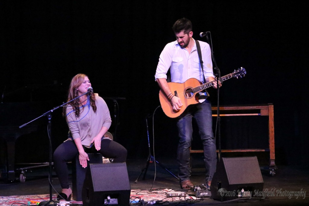 Crystal and Will Yates to the the Shuler stage Sunday evening to packed crowd Sunday evening during the Gate City Music Festival