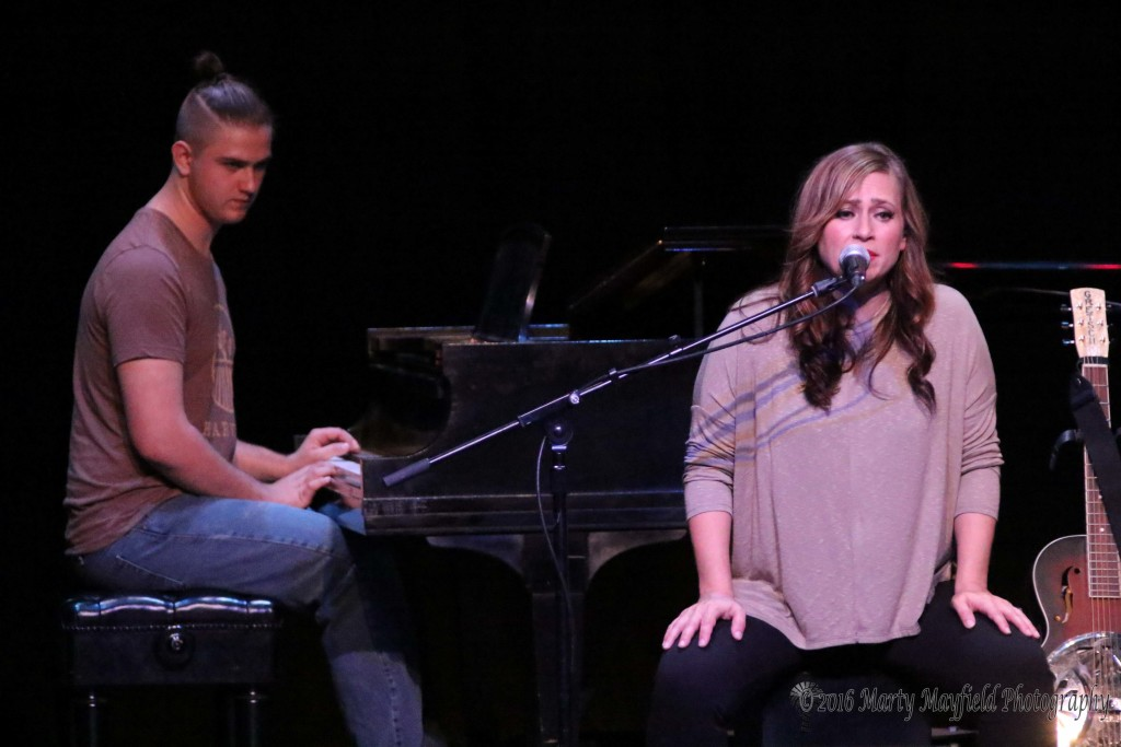 Crystal and Will's 18 year old son joined them on stage for a song Sunday evening during the Gate City Music Festival