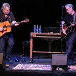 Eddie Heinzelman and Radney Foster on stage at the Shuler Theater Sunday evening during the 2016 Gate City Music Festival.