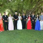 The RHS 2016 Homecoming Court L to R; Daniel Rubio, Alina Pillmore, Austin Jones, Allie Irvin, King Jonathan Cabriales, Queen Estrella Vargas, Jaziah Salazar, Kallie Villagecenter, Jacob Van Sweden, Sophia Maddelini, Dillon Lemons, Camille Gonzales