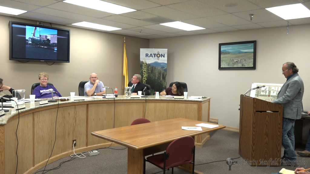 Robert Walton gave a report to commissioners on the installation of the new generation system in Raton.