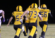 It was a scoop and run by Rafael Maso, a big lineman for Raton, who then took the ball about 75 yards to pay dirt with a Yellow Jersey escort all the way