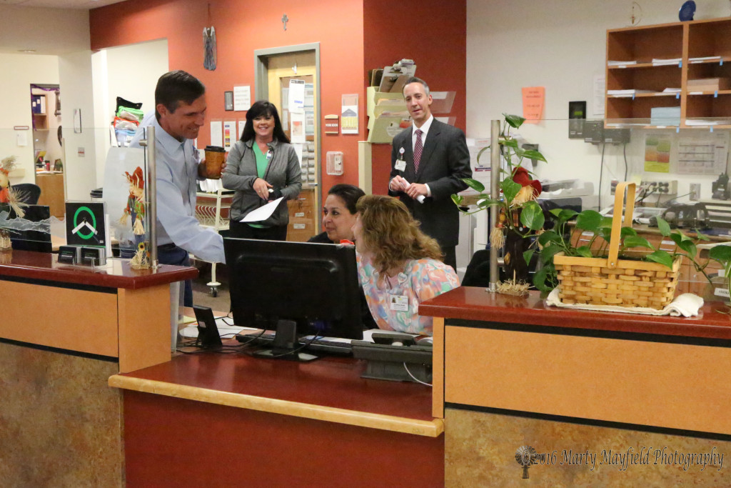 Senator Martin Heinrich met with staff at Miner's Colfax Medical Center Thursday afternoon to learn more about what they do and what they need to do to do the job.