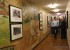 Senator Heinrich tours the halls of the Long term facility which has been decorated with mining artwork.