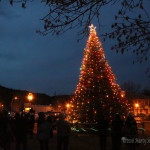 Raton residents congregated at Ripley Park to light the city Christmas Tree.