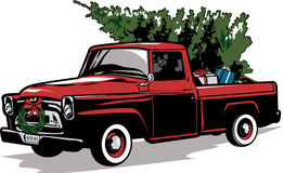 Christmas Tree In Truck Vintage Clipart Krtn Enchanted Air Radio