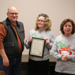 Mayor Pro-Tem Neal Segotta presented the proclamation recognizing the efforts of the Reindeer Dash to Jami Esquivel and Sally Chavez. The Reindeer Dash collects monies to help with kids Christmas.