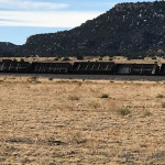 These empty coal cars were sitting on a siding just north of Ludlow Colorado, when extreme winds blew them off the track Monday afternoon.