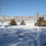 City crews team up to clear First Street late Friday afternoon