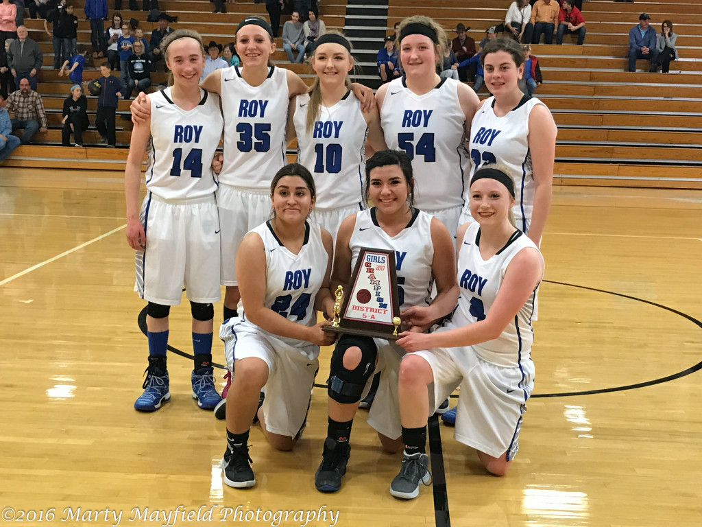 District 5A Champions Roy/Mosquero Lady Longhorns Back row Riley Clavel, Haley King, Kendall Smith, Bailey Smith, Mackenzie Lightfoot, Front Row Kassandra Velarde, Mya Vigil, Sherrie Ray