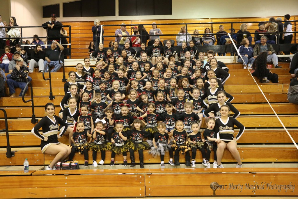 RHS Cheer Squad held their Lil Cheer Clinic this week and the 50+ girls performed at this year's Tigerfest held February 18, in tiger Gym.