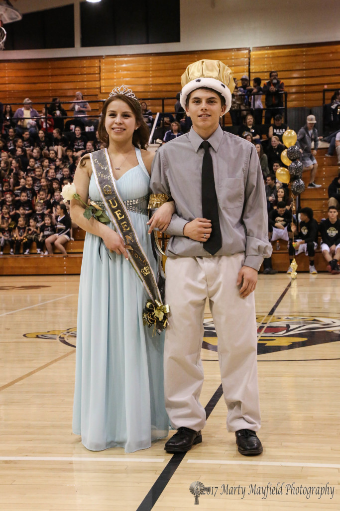 Montan Trujillo and Damien Martinez are crowned Queen and King for this year's Tigerfest. The court was announced during pregame ceremonies Saturday evening.