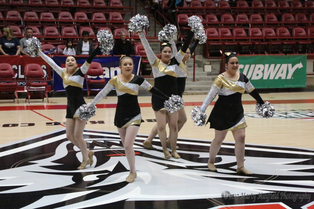 RHS Dance in the PIT at UNM in Albuquerque at the State Spirit Competition Friday afternoon.