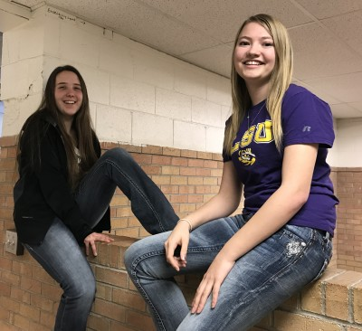 (L-R):  Halle Medina and Brittany Fleming