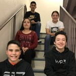 Top to Bottom):  Jose Archuleta--Academic, Andie Ortega--Service, Elexis Palladine--Most Improved, Jacob Ortega--8th Grade, and Joey Valdez--7th Grade