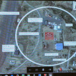 A Google Maps view of the proposed site for the solid waste convenience center (red square) located on city property in Raton.