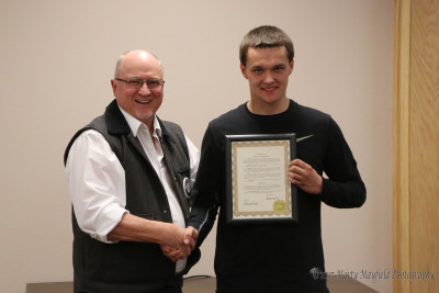 Nathaniel Tarbox was presented with a proclamation from Mayor Pro-Tem Neil Segotta for his efforts on the Community Give Back program and work on the New Mexico State Juvenile Justice Advisory Committee