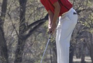 Zac Caldwell from Springer and host of the first ever Red Devil Golf tourney does the putt on the third green at the Raton Municipal Golf course. Zac also took first place in the Tourney.