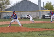 Trevor Portillos takes off for second base and makes the steal against McCurdy as AJ Vallo starts his windup Saturday afternoon.