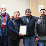 Larry Osborn, Tim Trujillo and John Duran accepted the proclamation for the Run for the Wall from commissioner Ron Chavez.