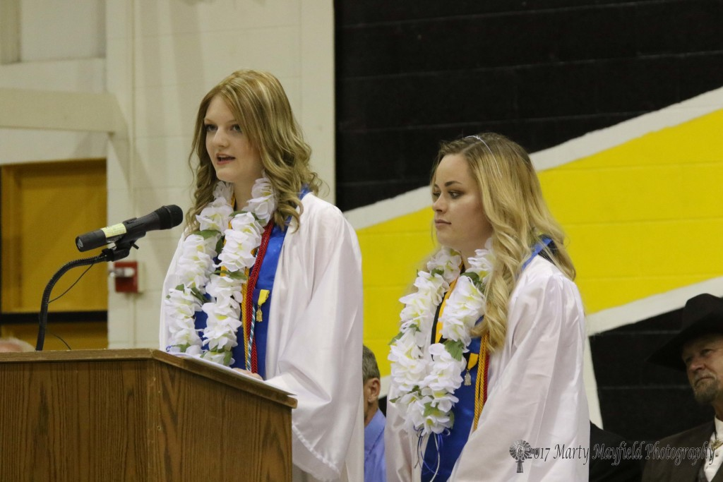 Ivy Fernandez and Makayla Ley shared the salutatorian honor and gave the farewell address for this year's RHS graduation.