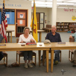 Led by School Board President Kathy Honeyfield the four member board unanimously approved the reduction in force plan presented to them by superintendent Andy Ortiz Monday night .