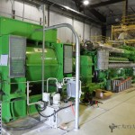 The new 4.4 Megawatt GE Jenbacher Generator. The generator will supply only a portion of Raton's electric needs.