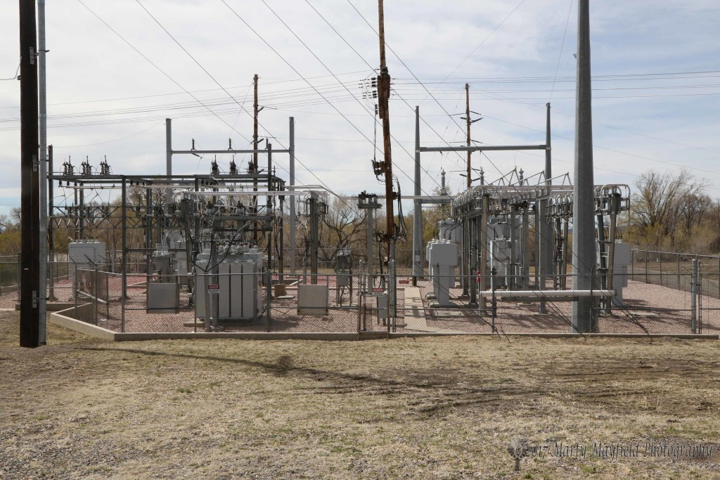 This is the hub or the main RPS Substation where the power comes into Raton from the Burro Canyon Line and is distributed to the different circuits in town.