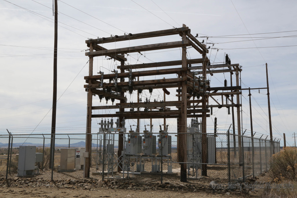 It doesn't look very big but this small substation on Gardner Road is where power from the Burro Canyon line and the Springer Electric Line come together and are switched into Raton.