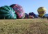 Blue Skies and light winds welcome the crowds to the 2017 balloon rally as balloons fill with air and ready for flight.