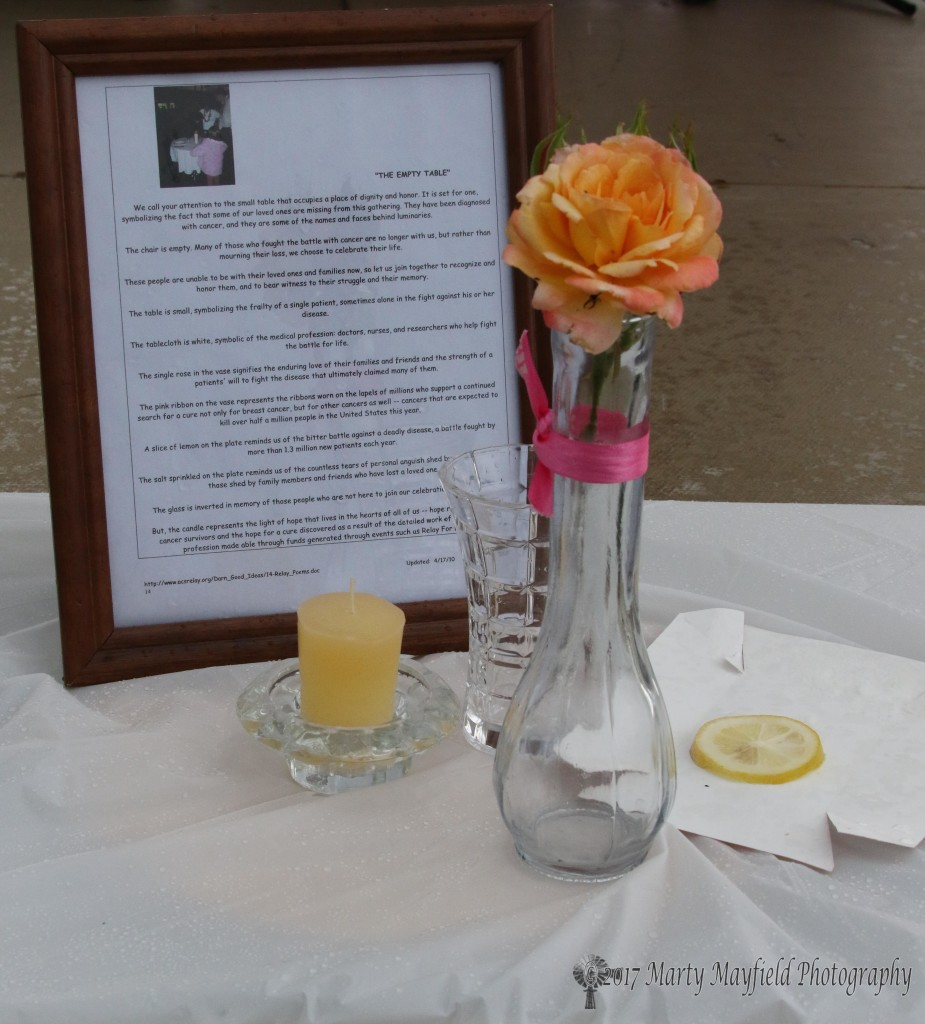 A table for one is set, it symbolizes those who can no longer celebrate the life they had.