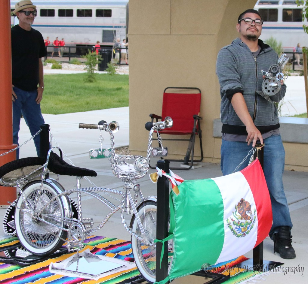 Frank Carrasco was awarded the trophy for best bicycle of the Run to Raton Car Show